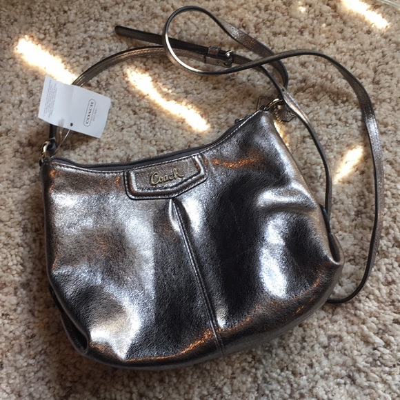 Coach Handbags - Coach Pewter Silver purse
